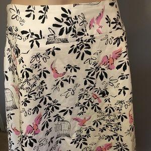 Notations Skirts - Notations Retro Birds Birdcages Crinoline Skirt